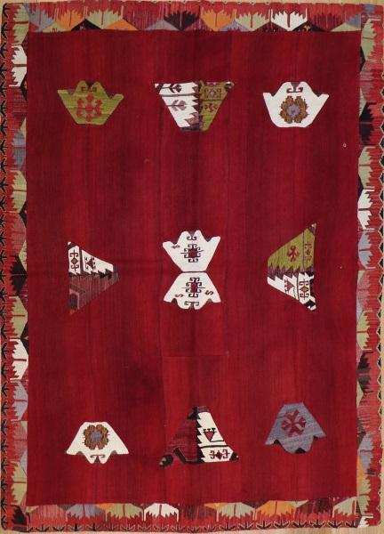 R3140 Anatolian Kilim Patchwork