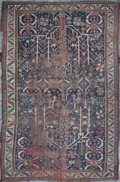 R3397 Antique Caucasian Shirvan Carpet