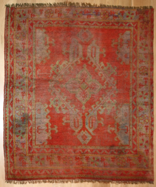 Antique Turkish Ushak Rug R2852