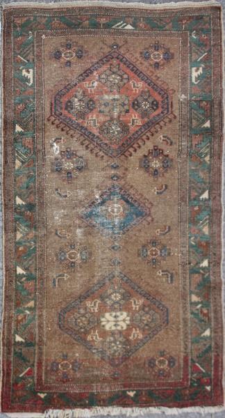 R1462 Antique Oriental Persian Bidjar Rug