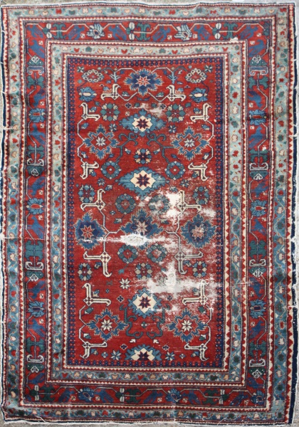 R1437 Antique Caucasian Derbent Rug