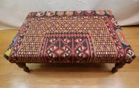 R8404 Antique Kilim Ottoman Stool Table
