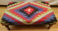 R8405 Antique Kilim Ottoman Stool Table