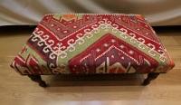 R8406 Antique Kilim Ottoman Stool Table