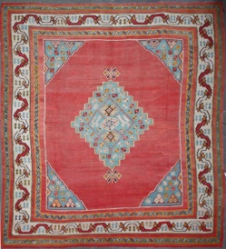 Beautiful Antique Turkish Large Ushak Kilim Rug R4946