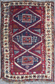 R2444 Antique Kurdish Rug