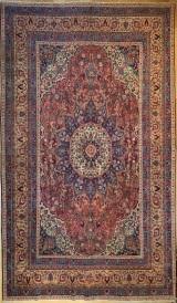 R1124 Antique Persian Tabriz Carpet