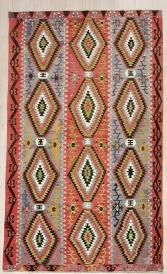 R8072 Antique Turkish Esme Kilim Rug