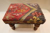 R7740 Antique Turkish Kilim Footstools
