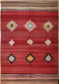 R8036 Antique Turkish Kilim Rug