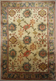 R7676 Beautiful Decorative Antique Ushak Carpet