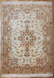 Beautiful Handmade Persian Silk Isfahan Carpet R7763