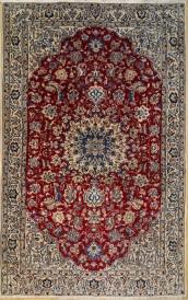 R8469 Persian Silk and wool Nain Rugs