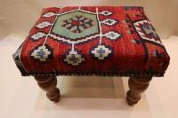 R7039 Vintage Kilim Footstool
