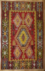 R8209 Vintage Turkish Cal Kilim Rugs