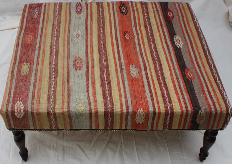 Large Kilim Ottoman Table
