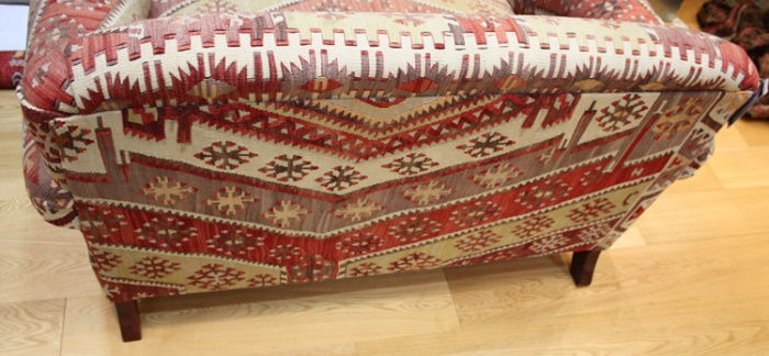 R6888 Antique Howard Kilim Sofa. Click Here To Zoom