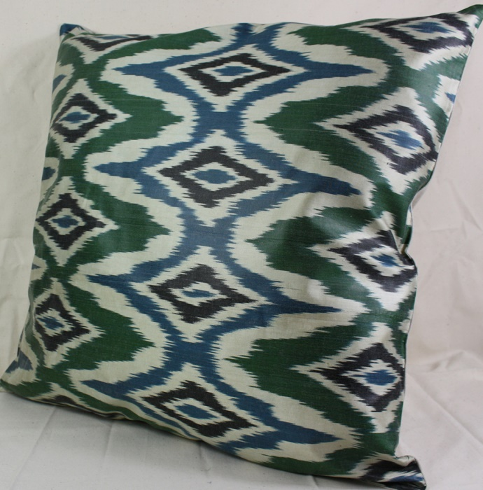 Beautiful Silk Ikat Cushion Covers For Sale At