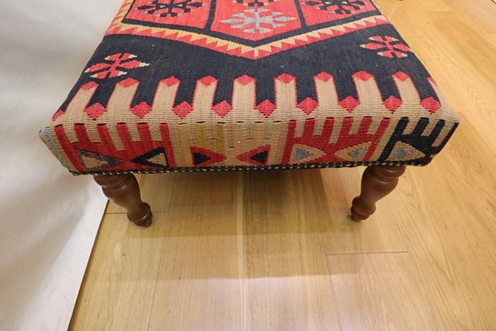 Amazing R7595 Handmade Turkish Kilim Coffee Table Ottoman. Click Here To Zoom