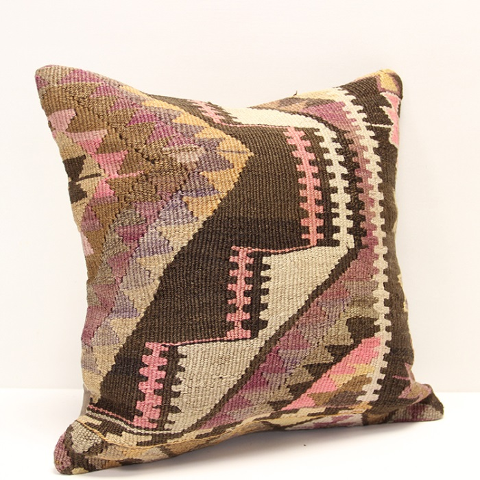 Kilim Cushion Pillow Cover Made From Hand Woven Flat Weave