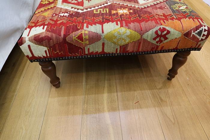 Large Kilim Covered Coffee Table Kilim Ottoman Stool