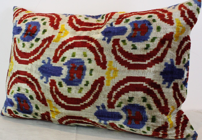 Silk Velvet Ikat Cushion Covers For Sale At Rug Store 7592