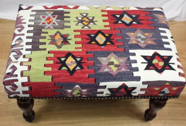 R7739 Beautiful Hand Woven Turkish Kilim Stool