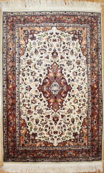 A beautiful Indian Kashmir Silk Rug R7983