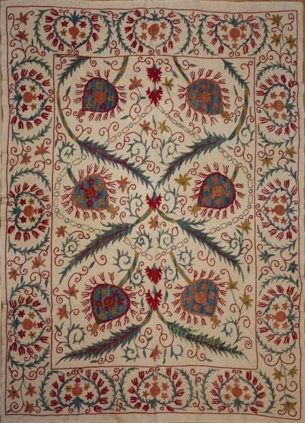 R8453 Absolutely Beautiful Silk Suzani Embroidery