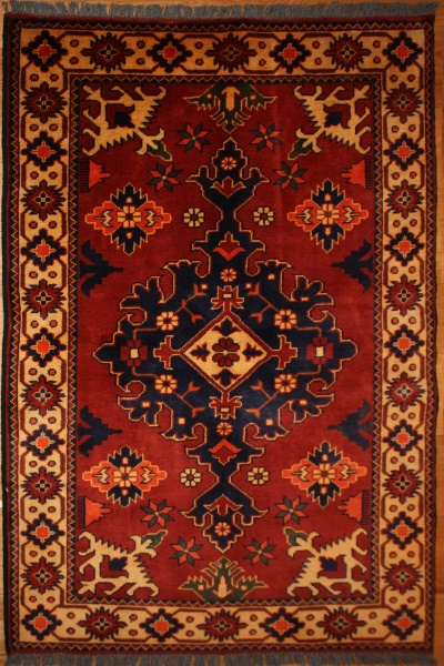 R6743 Afghan Kargai Rug