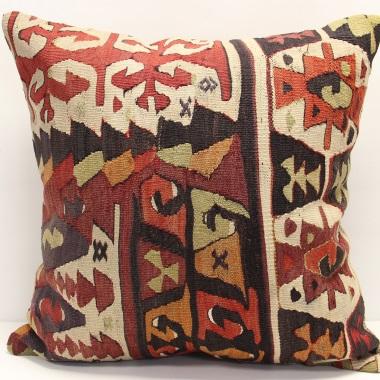 XL445 Afghan Kilim Pillow Cover