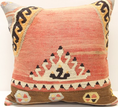 M335 Afghan Traditional Wool Kilim Pillow Cover