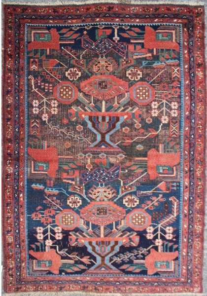 R1469 Antique Persian Afshar Rug