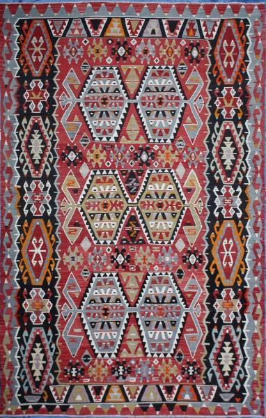 R7084 Anatolian Esme Kilim Rug