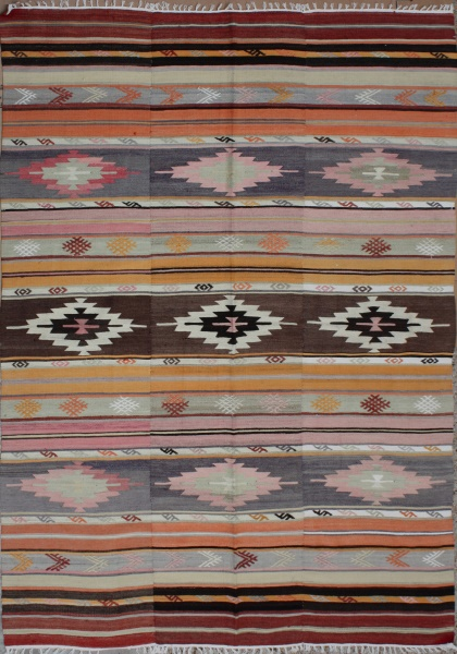 R3529 Anatolian Hand Woven Cal Kilim