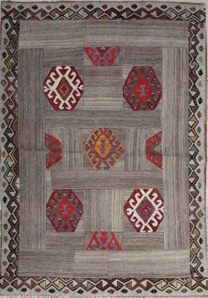 R3769 Anatolian Kilim Patchwork