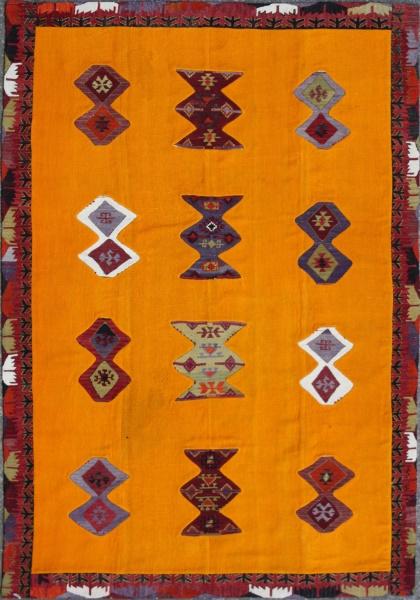 R3744 Anatolian Kilim Patchwork