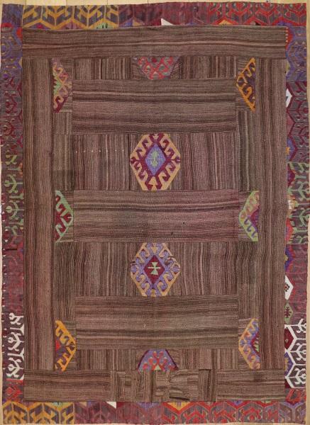 R3757 Anatolian Kilim Patchwork Rug