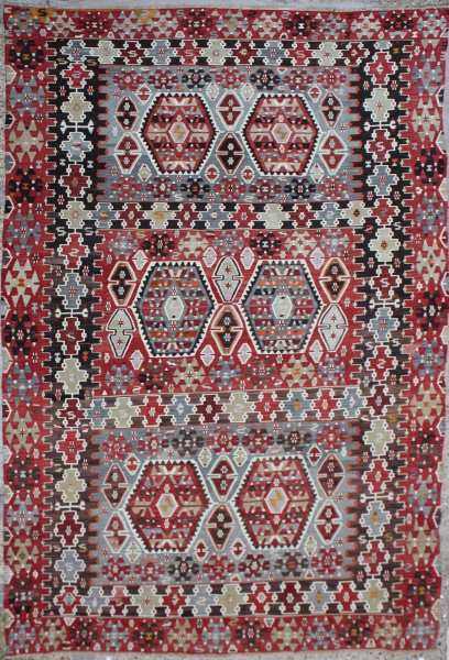R6325 Anatolian Esme Turkish Kilim Rug