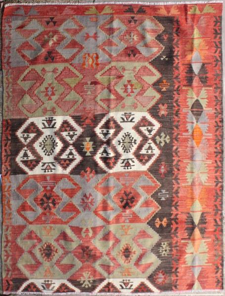 R6876 Antique Emirdag Turkish Kilim Rug