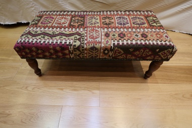 R4013 Anatolian Large Bench Kilim Stool