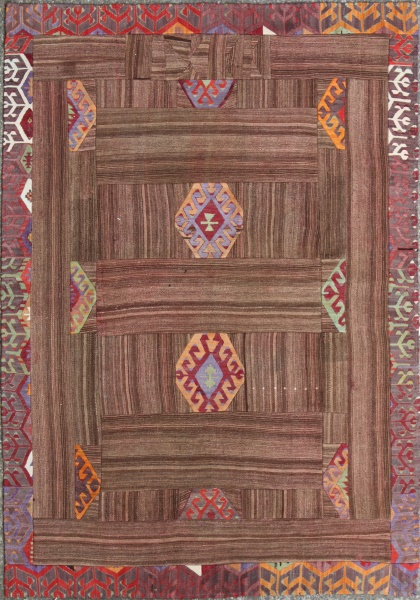 R3757 Anatolian Patchwork Rug