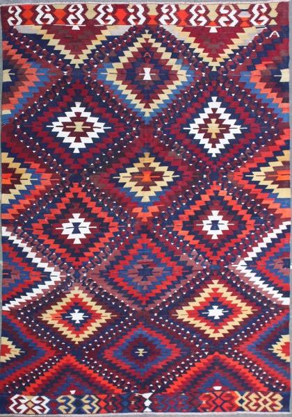R7382 Beautiful Anatolian Turkish Kilim Rug