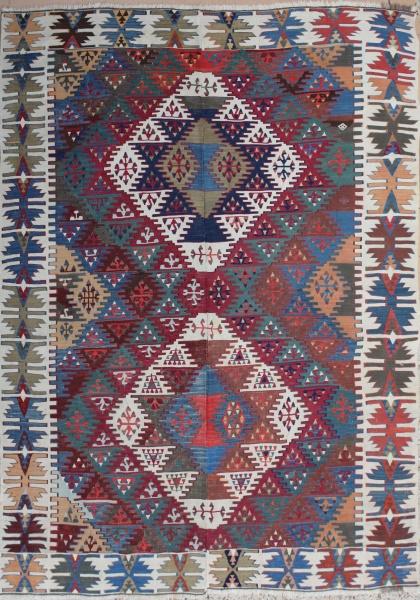 F1362 Antique Adana Kilim Rug
