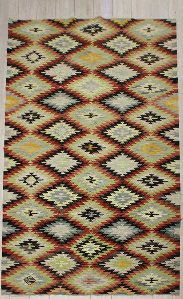 R6357 Antique Afyon Kilim Rug