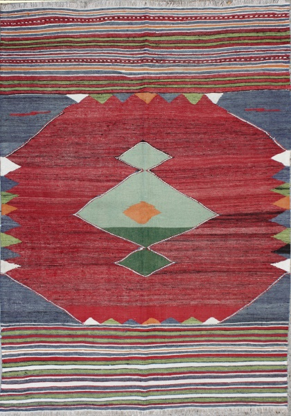 R3579 Antique Afyon Kilim Rug