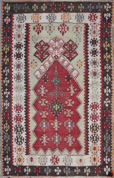 R6590 Antique Anatolian Kilim