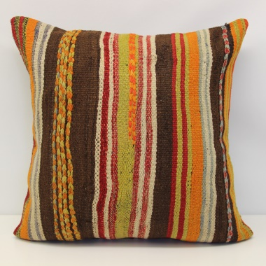Antique Anatolian Kilim Cushion Cover L611