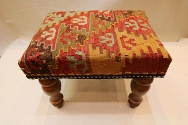 R7040 Antique Anatolian Kilim Footstool