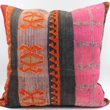 XL403 Antique Anatolian Kilim Pillow Cover